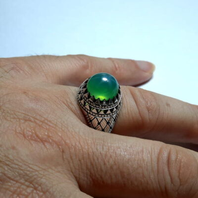 انگشتر یاقوت سبز استار 371.5