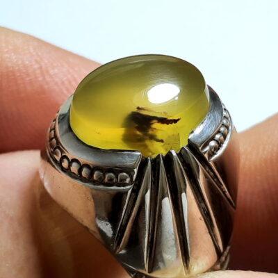 انگشتر مردانه عقیق زرد a465.2