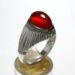 انگشتر نقره عقیق یمانی a467