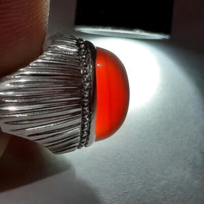 انگشتر نقره عقیق یمانی a467.2