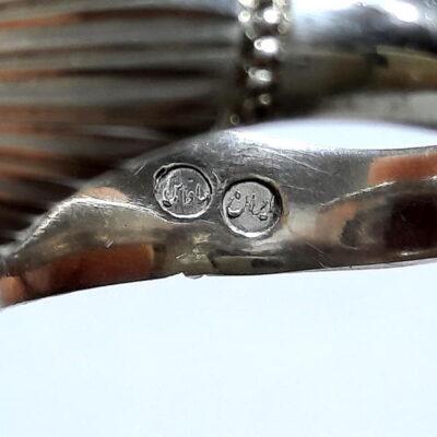 انگشتر نقره عقیق یمانی a467.4