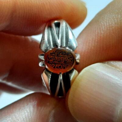 انگشتر ظریف عقیق خطی 7103.1