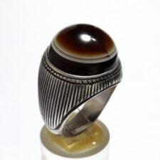 انگشتر جزع بقرانی مردانه a470