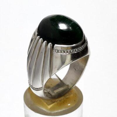 انگشتر تورمالین چشم گربه ای f491