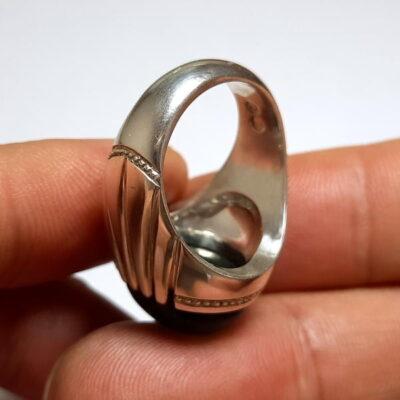 انگشتر تورمالین چشم گربه ای f491.5