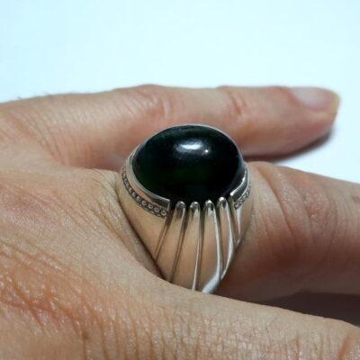 انگشتر تورمالین چشم گربه ای f491.6