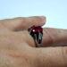 عکس ریز انگشتر جواهر یاقوت سرخ 372.4