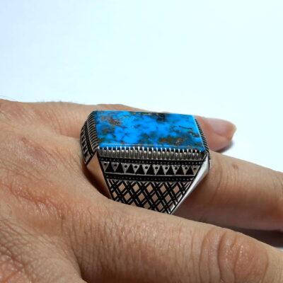 انگشتر مردانه فیروزه نیشابور 236.5
