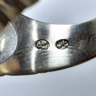 انگشتر عقیق طوق دار a473.3