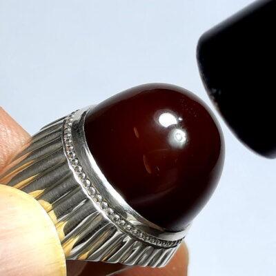 انگشتر جزع یمانی عالی f488.2