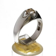 انگشتر نقره مردانه الماس 327