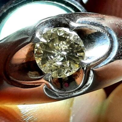 انگشتر نقره مردانه الماس 327.2