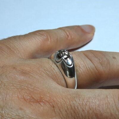 انگشتر نقره مردانه الماس 327.5
