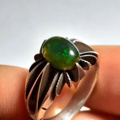 انگشتر نقره اوپال سبز 328.1