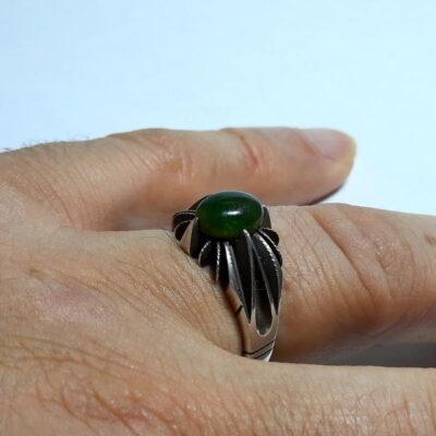 انگشتر نقره اوپال سبز 328.4