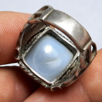 انگشتر جزع یمانی خطی f493.3