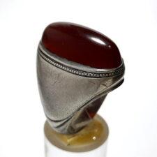 انگشتر قدیمی کلوخه عقیق اصل افریقایی f494