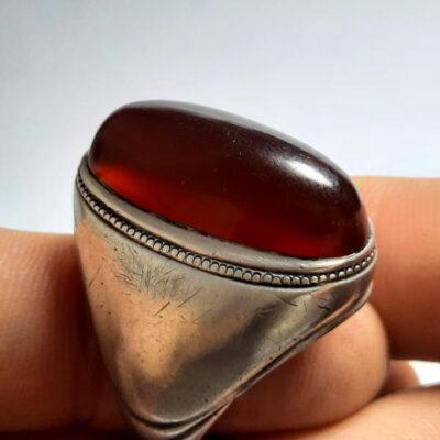 انگشتر قدیمی کلوخه عقیق اصل افریقایی f494.1