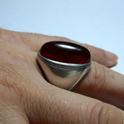 انگشتر قدیمی کلوخه عقیق اصل افریقایی f494.3