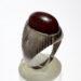 عکس ریز انگشتر قدیمی جزع سرخ تیره یمانی a476.2