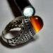 عکس ریز انگشتر فدیوم عقیق سه پوست a478.4