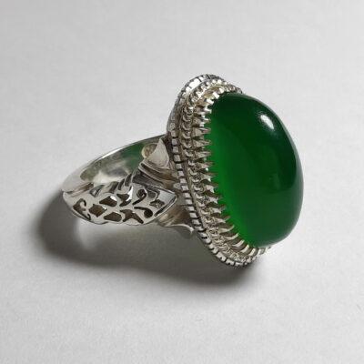 انگشتر مردانه عقیق سبز a482.2