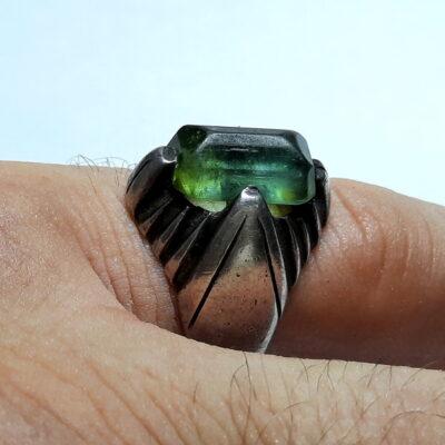 انگشتر قدیمی مردانه زمرد f498.3