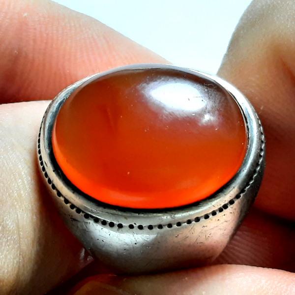 انگشتر قدیمی عقیق یمن a485.1