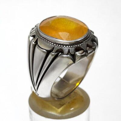 انگشتر مردانه یاقوت زرد 375