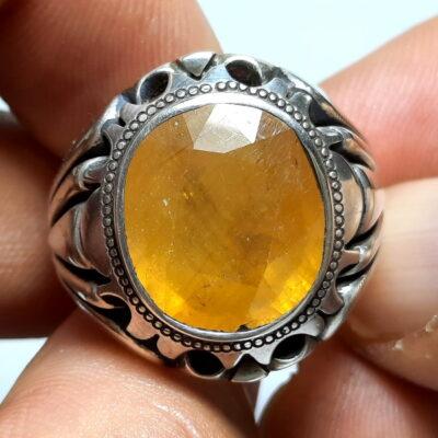 انگشتر مردانه یاقوت زرد 375.1