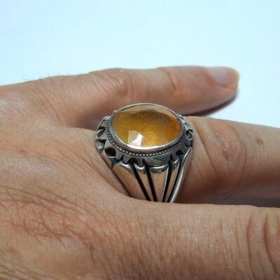 انگشتر مردانه یاقوت زرد 375.3