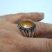 عکس ریز انگشتر مردانه یاقوت زرد 375.3