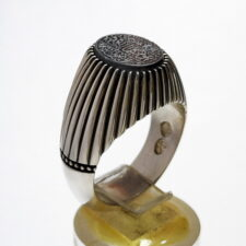 انگشتر مردانه حدید خطی f500