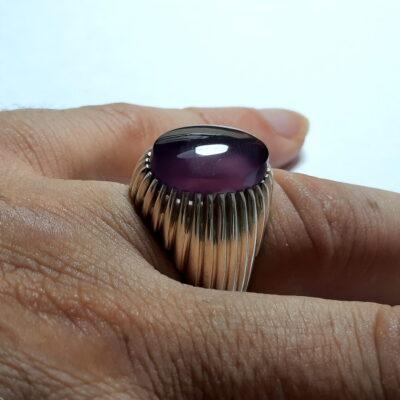 انگشتر عقیق یاسی یمنی a490.3