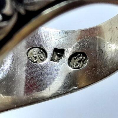 انگشتر قلمزنی جزع قدیمی f502.5
