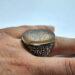 عکس ریز انگشتر قلمزنی جزع قدیمی f502.7