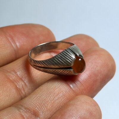 انگشتر قدیمی عقیق یمن a493.4