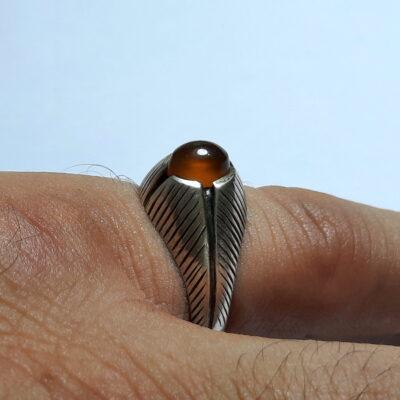 انگشتر قدیمی عقیق یمن a493.5
