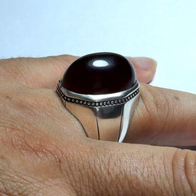 انگشتر مردانه عقیق افریقایی a495.4
