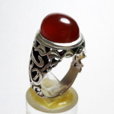 انگشتر مردانه عقیق سرخ یمن a496