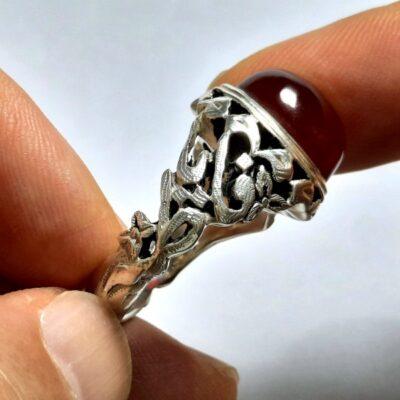 انگشتر مردانه عقیق سرخ یمن a496.3