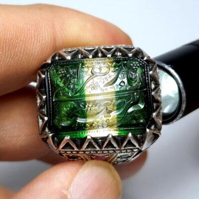 انگشتر مردانه دست ساز خطی 7119.2