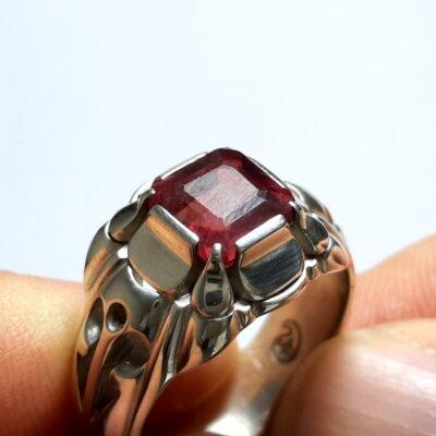 انگشتر یاقوت سرخ مردانه 376.2