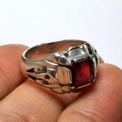 انگشتر یاقوت سرخ مردانه 376.3