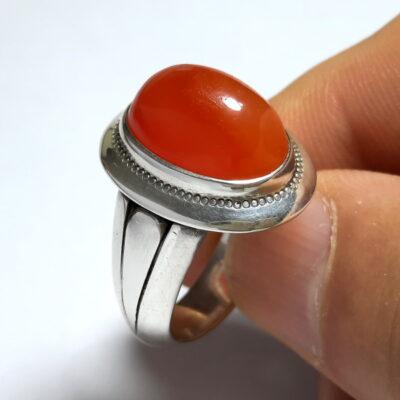 انگشتر نقره عقیق یمن a497.1