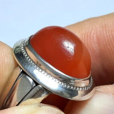 انگشتر نقره عقیق یمن a497.2