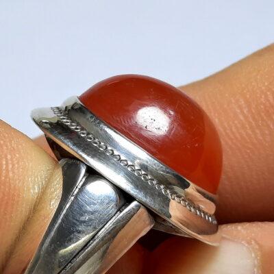 انگشتر نقره عقیق یمن a497.3