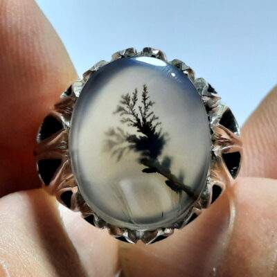 انگشتر سنگ عقیق شجر 219.1