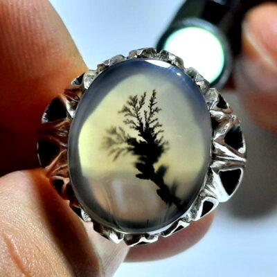 انگشتر سنگ عقیق شجر 219.2
