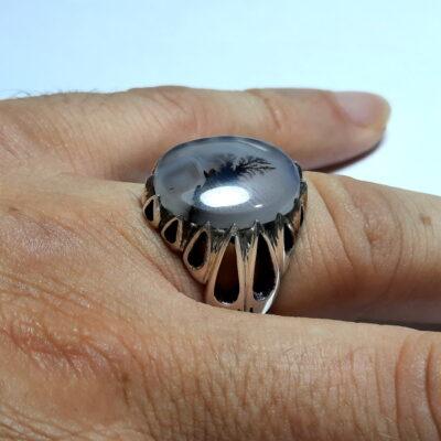 انگشتر سنگ عقیق شجر 219.4